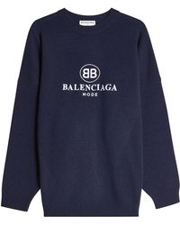 Balenciaga - Oversized Pullover With Virgin Wool And Cashmere - Lyst