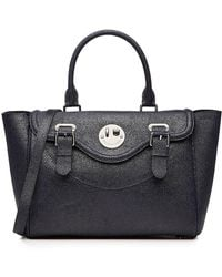 Hill & Friends - Happy Satchel Textured Leather Tote - Lyst