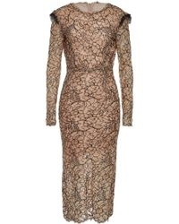 Preen By Thornton Bregazzi - Cameron Lace Dress With Cotton - Lyst