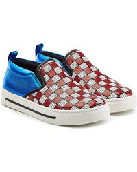 Marc Jacobs - Leather Slip-on Trainers With Sequins - Lyst