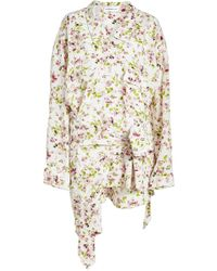 Faith Connexion - Printed Silk Shirt Dress - Lyst