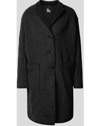 R13 Mantel mit Stehkragen - Schwarz