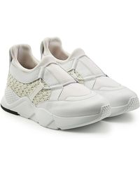 Robert Clergerie - Trainers With Leather And Woven Detail - Lyst