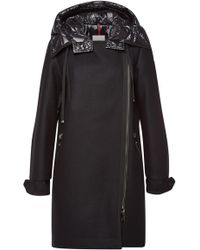 Moncler - Bouscarle Down Coat With Virgin Wool - Lyst