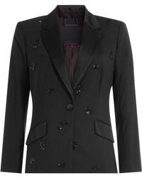 Diane von Furstenberg - Wool Blazer With Beaded Embellishment - Lyst