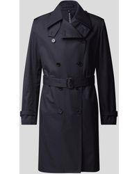 Mackintosh Trenchcoat mit Eingrifftaschen - Blau