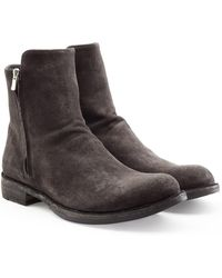 Officine Creative - Suede Ankle Boots - Lyst