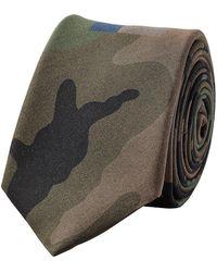 Valentino - Camouflage Printed Silk Tie - Lyst
