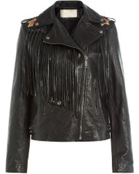 Valentino - Volcano Leather Jacket - Lyst