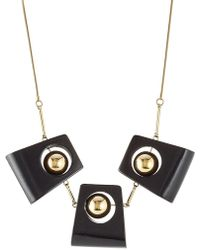 Marni - Statement Necklace With Wood - Lyst