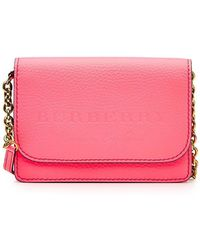 Burberry - Hampshire Mini Leather Shoulder Bag - Lyst