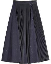Jil Sander Navy - Pleated Skirt - Lyst