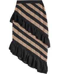 Marco De Vincenzo - Asymmetric Skirt With Metallic Thread - Lyst