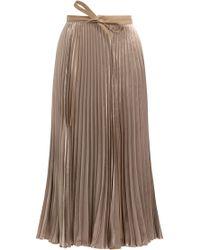 Valentino | Pleated Velvet Skirt With Silk | Lyst