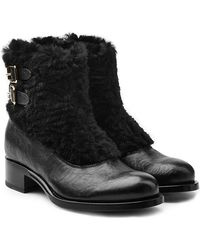 Rupert Sanderson - Leather Ankle Boots With Fur - Lyst