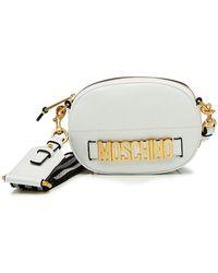 Moschino - Logo Leather Shoulder Bag - Lyst