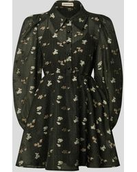 Custommade• - Minikleid mit floralem Muster - Lyst