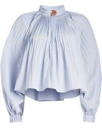 Tibi - Isabelle Cropped Blouse - Lyst