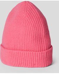 Le Bonnet Beanie mit Ripp-Optik - Pink