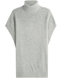 Velvet - Cashmere Short Sleeved Cape Pullover - Lyst