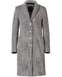 Emanuel Ungaro | Wool Chevron Coat | Lyst