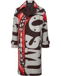 Stella McCartney Gemusterter oversized Mantel Lance aus Wolle - Mehrfarbig