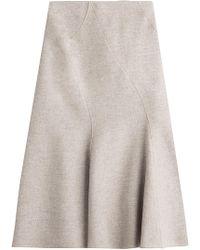 Alberta Ferretti - Wool Skirt With Cashmere - Lyst
