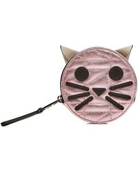Karl Lagerfeld - K/kuilted Pink Cat Leather Coin Purse - Lyst