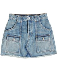 RE/DONE - Cargo Denim Mini Skirt - Lyst