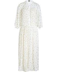 JOSEPH - Bedrucktes Kleid aus Seide mit Samt und Tüll - Lyst