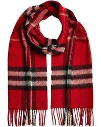 Burberry - Giant Icon Printed Cashmere Scarf - Lyst