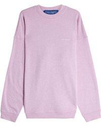 we11done - Rollercoaster Cotton Sweatshirt - Lyst