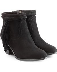 Sam Edelman - Suede Ankle Boots With Fringe - Lyst