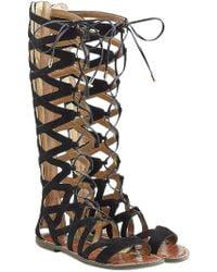 Sam Edelman - Suede Lace-up Sandals - Lyst