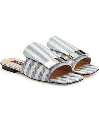 Sergio Rossi - Slip-on Fabric Sandals - Lyst