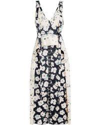 Proenza Schouler - Printed Dress With Ruffle Peplum - Lyst