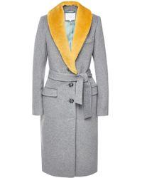 Lala Berlin - Nila Coat With Wool Lapels - Lyst