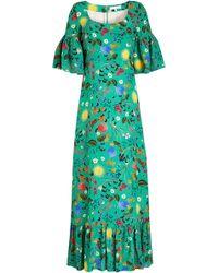 Borgo De Nor - Elena Printed Silk Dress - Lyst