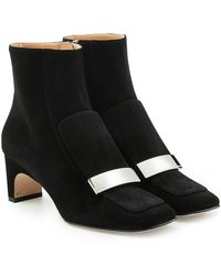 Sergio Rossi - Suede Ankle Boots - Lyst