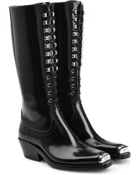 CALVIN KLEIN 205W39NYC - Western Faye Leather Knee Boots - Lyst
