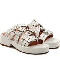 Robert Clergerie - Fantom Leather Sandals - Lyst