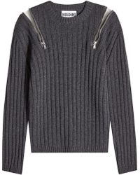 Moschino - Pullover With Zipped Shoulders - Lyst
