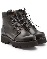 Tabitha Simmons - Verzierte Ankle Boots Neir aus Leder - Lyst