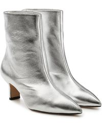 Paul Andrew - Mangold Metallic Leather Ankle Boots - Lyst
