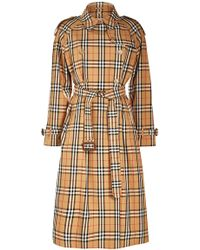 Burberry - Eastheath Checked Trench Coat - Lyst