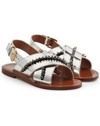 Marni | Embellished Leather Sandals | Lyst