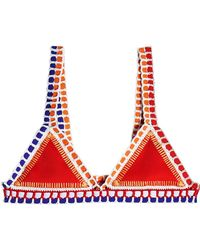 KIINI - Kaia Crochet Trimmed Bikini Top - Lyst