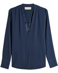 By Malene Birger - Lippif Blouse With V-neckline - Lyst
