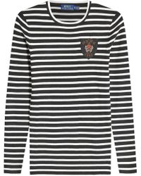 Polo Ralph Lauren - Striped Top With Patch - Lyst