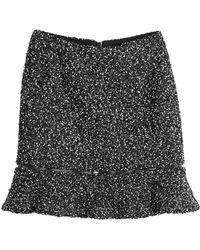 Karl Lagerfeld - Mini Skirt With Zipper - Lyst